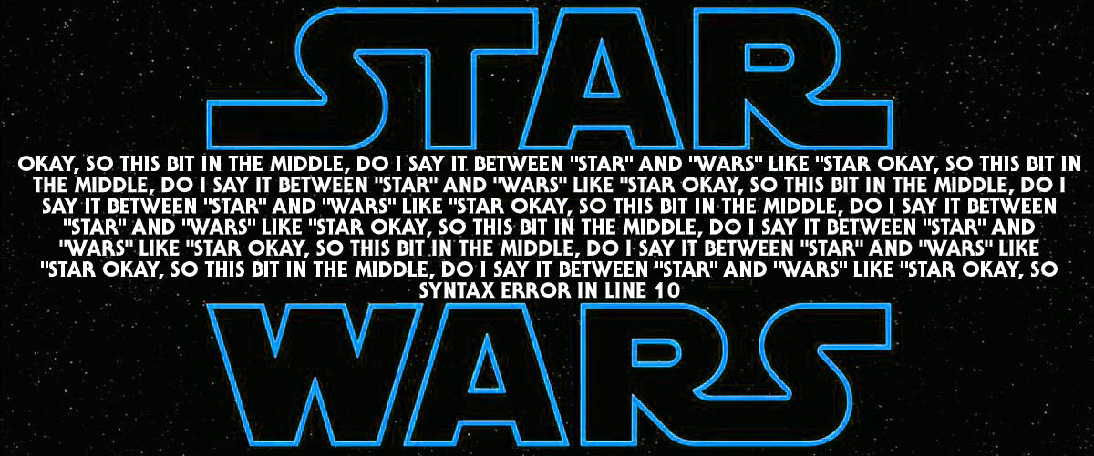 Star Wars: Syntax Error