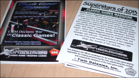 Twin Galaxies Classic Gamer Magazine card