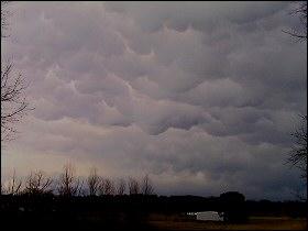Mammatus clouds - March 9, 2006