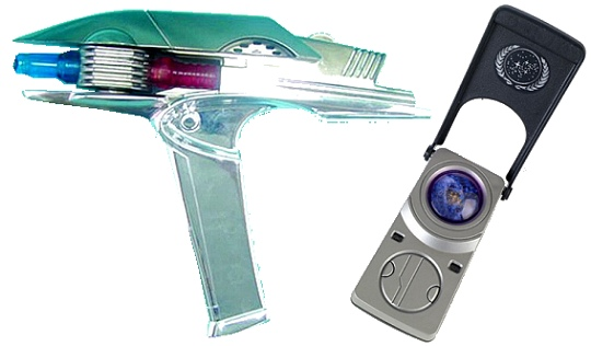 Star Trek (2009) phaser and communicator toys