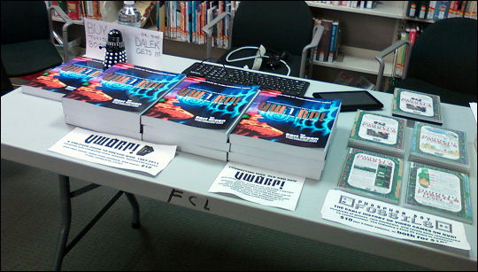 theLogBook table at 2012 ComiCon-Way