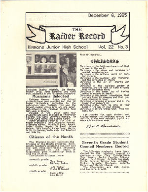 Raider Record Vol. 22 #3
