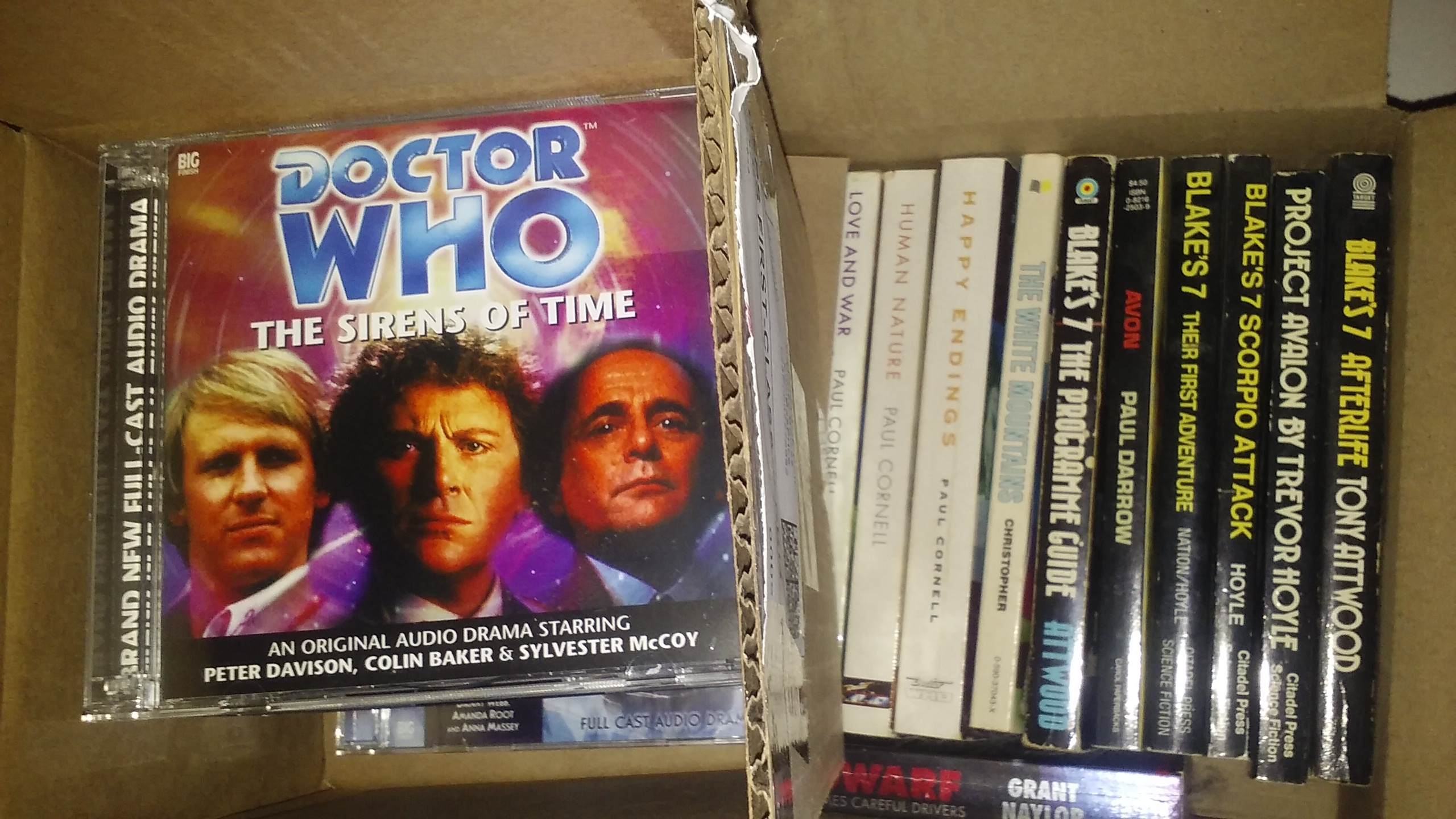Doctor Who & Blake's 7 books & CDs