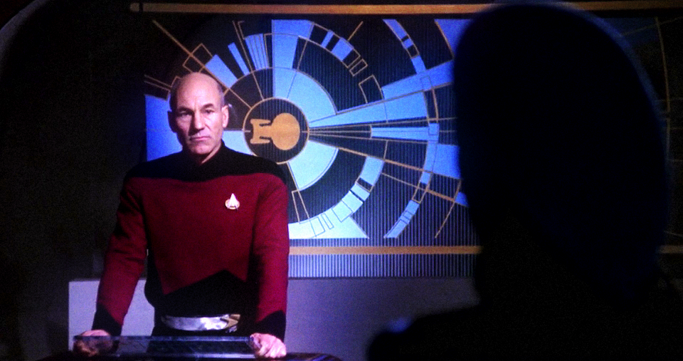Picard and his screen
