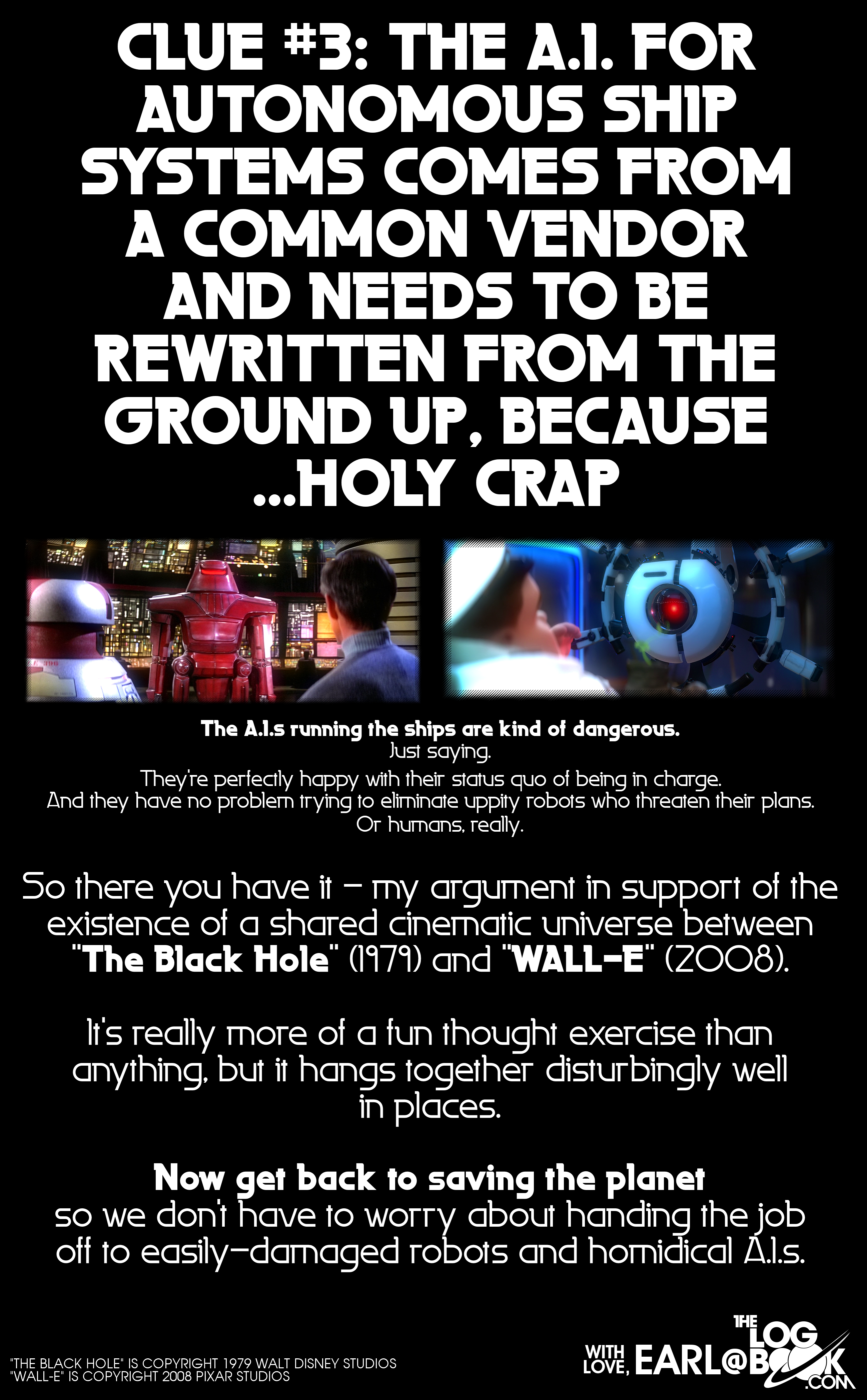 The Black Hole & WALL-E Cinematic Universe