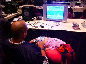Playing at OKGE 2004