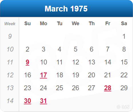 March 1975