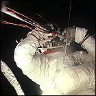 Pete Conrad, spacewalking