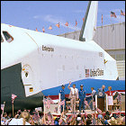 President Reagan at STS-4 landing