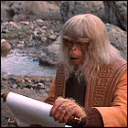 The Lawgiver reads the paper