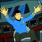 Scene cut from the new Star Trek movie: Spock doing jazz fingers