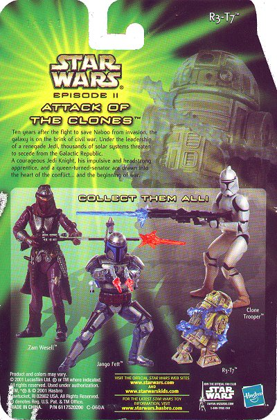 Hasbro Star Wars Episode II sneak preview cardback