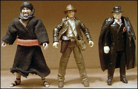 Modern Indy with vintage Toht and Swordsman