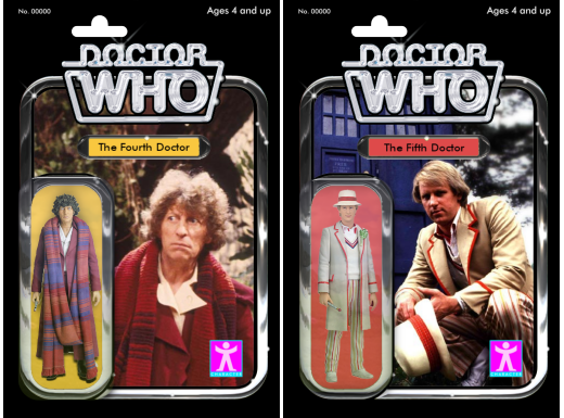 Doctor Who figures - alternate packaging