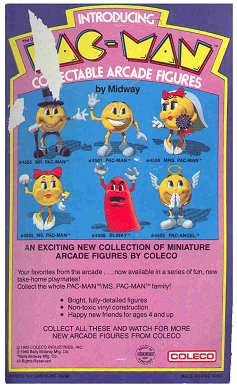 Pac-Man figures - photo copyright 2000 Earl Green / theLogBook.com