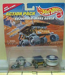 Hot Wheels Sojourner Mars Rover Action Pack - photo copyright 1999 Earl Green / theLogBook.com