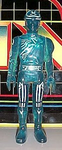 Tron action figures - photo copyright 2001 Earl Green / theLogBook.com